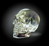 Kiln cast Lead Crystal Skulls